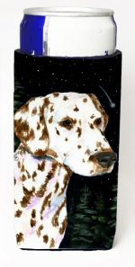Carolines Treasures SS8518MUK Starry Night Dalmatian Michelob Ultra bottle sleeves For Slim Cans - 12 oz.