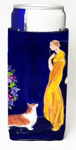 Carolines Treasures SS8546MUK Lady With Her Corgi Michelob Ultra bottle sleeves For Slim Cans - 12 oz.