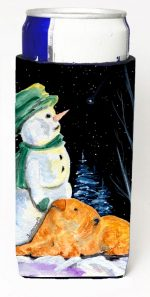 Carolines Treasures SS8555MUK Snowman With Lakeland Terrier Michelob Ultra bottle sleeves For Slim Cans - 12 oz.