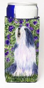 Carolines Treasures SS8602MUK Bearded Collie Michelob Ultra bottle sleeves For Slim Cans - 12 oz.