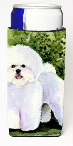 Carolines Treasures SS8712MUK Bichon Frise Michelob Ultra bottle sleeves For Slim Cans - 12 Oz.