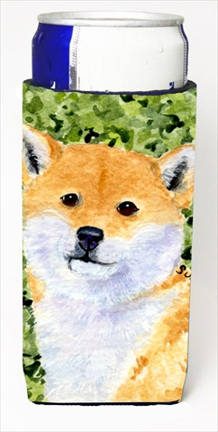 Carolines Treasures SS8719MUK Shiba Inu Michelob Ultra bottle sleeves For Slim Cans - 12 Oz.