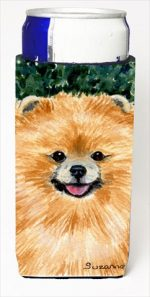 Carolines Treasures SS8725MUK Pomeranian Michelob Ultra bottle sleeves For Slim Cans - 12 Oz.