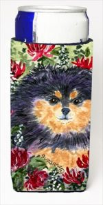 Carolines Treasures SS8727MUK Pomeranian Michelob Ultra bottle sleeves For Slim Cans - 12 Oz.