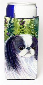 Carolines Treasures SS8730MUK Japanese Chin Michelob Ultra bottle sleeves For Slim Cans - 12 Oz.