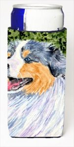 Carolines Treasures SS8736MUK Australian Shepherd Michelob Ultra bottle sleeves For Slim Cans - 12 Oz.