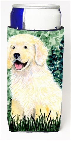 Carolines Treasures SS8739MUK Golden Retriever Michelob Ultra bottle sleeves For Slim Cans - 12 Oz.