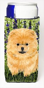 Carolines Treasures SS8746MUK Pomeranian Michelob Ultra bottle sleeves For Slim Cans - 12 Oz.