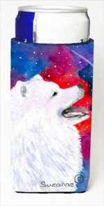 Carolines Treasures SS8752MUK Samoyed Michelob Ultra bottle sleeves For Slim Cans - 12 Oz.