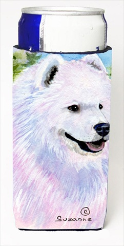 Carolines Treasures SS8755MUK Samoyed Michelob Ultra bottle sleeves For Slim Cans - 12 Oz.