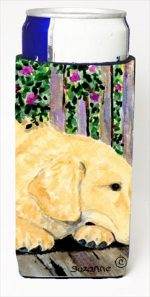 Carolines Treasures SS8756MUK Golden Retriever Michelob Ultra bottle sleeves For Slim Cans - 12 Oz.