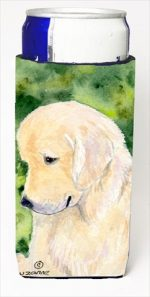 Carolines Treasures SS8757MUK Golden Retriever Michelob Ultra bottle sleeves For Slim Cans - 12 Oz.