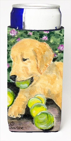 Carolines Treasures SS8759MUK Golden Retriever Michelob Ultra bottle sleeves For Slim Cans - 12 Oz.