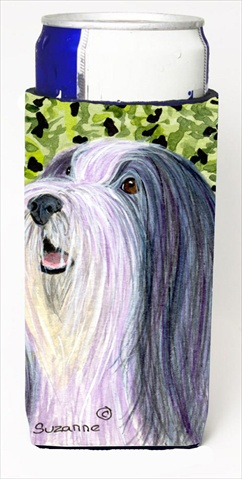 Carolines Treasures SS8808MUK Bearded Collie Michelob Ultra bottle sleeves For Slim Cans - 12 Oz.