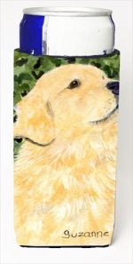 Carolines Treasures SS8810MUK Golden Retriever Michelob Ultra bottle sleeves For Slim Cans - 12 Oz.