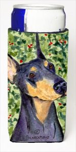 Carolines Treasures SS8812MUK Doberman Michelob Ultra bottle sleeves For Slim Cans - 12 Oz.