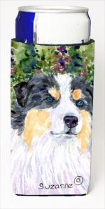 Carolines Treasures SS8821MUK Australian Shepherd Michelob Ultra bottle sleeves For Slim Cans - 12 Oz.