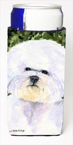 Carolines Treasures SS8829MUK Bichon Frise Michelob Ultra bottle sleeves For Slim Cans - 12 Oz.