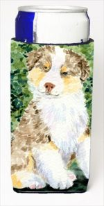 Carolines Treasures SS8847MUK Australian Shepherd Michelob Ultra bottle sleeves For Slim Cans - 12 Oz.