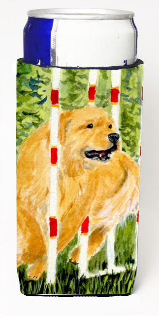Carolines Treasures SS8906MUK Golden Retriever Michelob Ultra s For Slim Cans - 12 oz.
