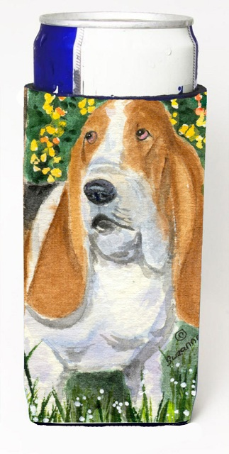 Carolines Treasures SS8964MUK Basset Hound Michelob Ultra s For Slim Cans - 12 oz.