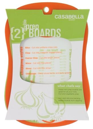 Casabella 53295 2 Count Orange & Green Prep Board