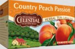 Celestial Seasonings 0720763 Herbal Tea Country Peach Passion Caffeine Free 20 Tea Bags 1.4 oz - 41 g - Case of 6 - 20 Bag