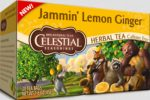 Celestial Seasonings 1140540 Herbal Tea Jammin Lemon Ginger Caffeine Free 20 Tea Bags 1.6 oz - 45 g - Case of 6 - 20 Bag