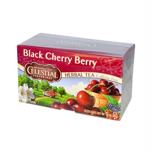 Celestial Seasonings 629204 Celestial Seasonings Herbal Tea Caffeine Free Black Cherry Berry - 20 Tea Bags - Case of 6