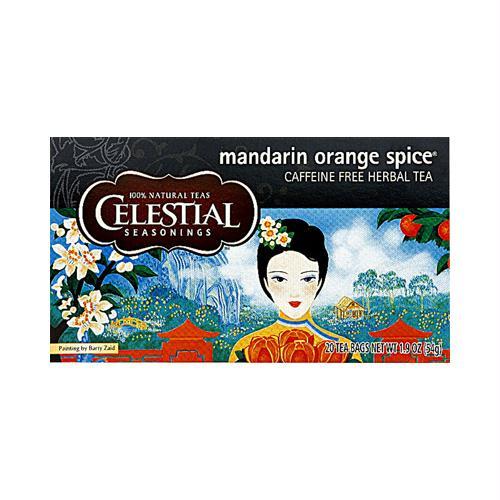 Celestial Seasonings 630624 Celestial Seasonings Herbal Tea Caffeine Free Mandarin Orange Spice - 20 Tea Bags - Case of 6
