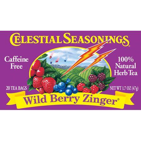 Celestial Seasonings 63495 Wild Berry Zinger Herb Tea