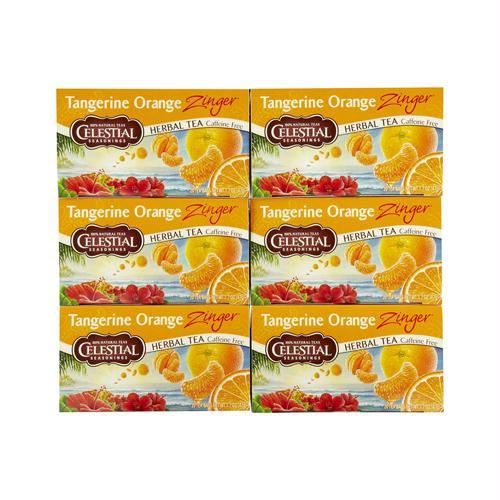 Celestial Seasonings 721142 Celestial Seasonings Herbal Tea - Caffeine Free - Tangerine Orange Zinger - 20 Bags