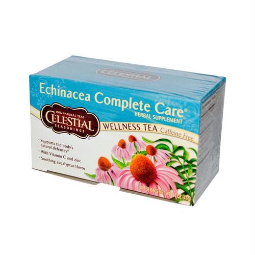Celestial Seasonings 726901 Celestial Seasonings Echinacea Complete Care Wellness Tea Caffeine Free - 20 Tea Bags - Case of 6