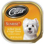Cesar K33581 3.5 oz. Sunrise Grilled Steak & Eggs Dog Food Pack Of 24
