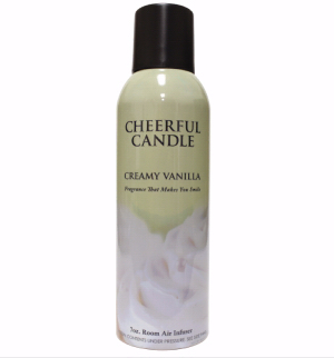 Cheerful Candle 189326 7 oz Room Air Infuser Spray - Creamy Vanilla