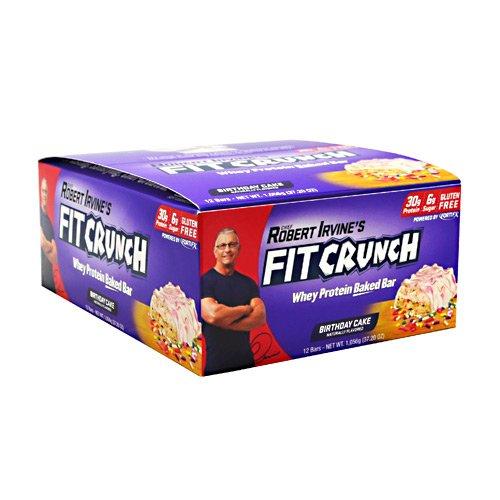 Chef Robert Irvine Fortifx 8030010 Fit Crunch Bar Birthday Cake - 12 Box
