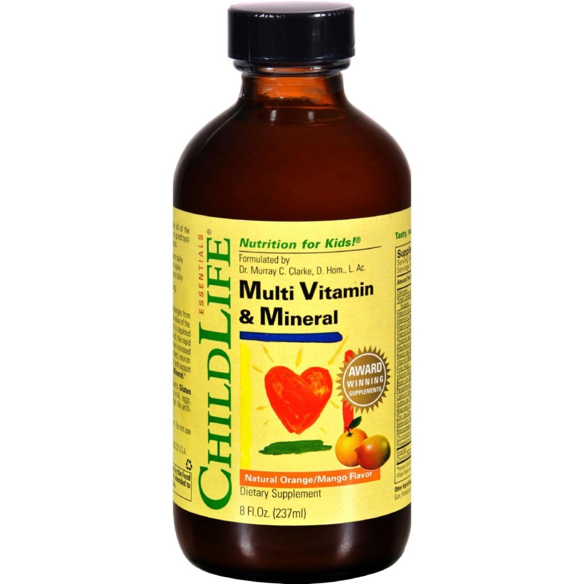 Child Life HG0408773 8 fl oz Multi Vitamin & Mineral - Natural Orange Mango - Pack of 3