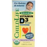 Childlife Organic Vitamin D3 Drops For Babies and Infants - Natural Berry Flavor - .338 oz - 1278431