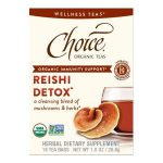 Choice Teas 232089 Organic Reishi Detox Wellness Tea