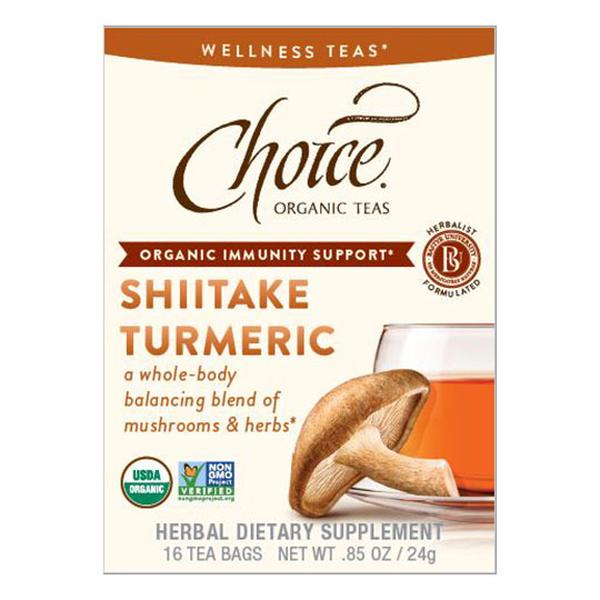 Choice Teas 232092 Organic Shiitake Turmeric Wellness Tea
