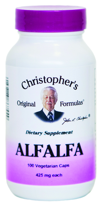 Christophers Original Formulas 686700 Single Herb Alfalfa - 100 Capsules