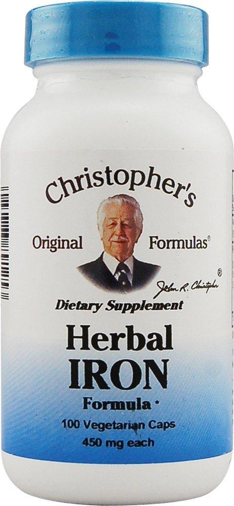 Christophers Original Formulas 689125 Herbal Iron Formula 100 Capsules