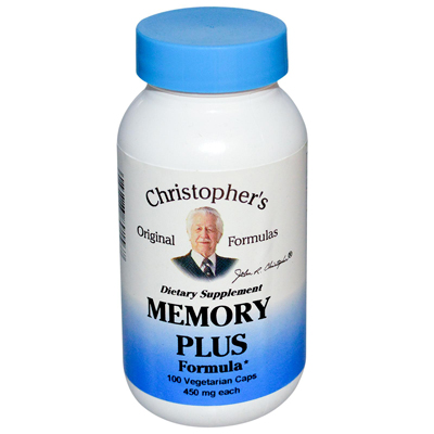 Christophers Original Formulas Memory Plus Formula - 450 mg -100 Caps