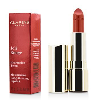 Clarins 279039 0.1 oz No. 743 Joil Rouge Long Wearing Moisturizing Lipstick - Cherry Red 3.5 g
