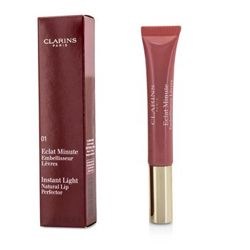 Clarins 74516 Eclat Minute Instant Light Natural Lip Perfector - 01 Rose Shimmer
