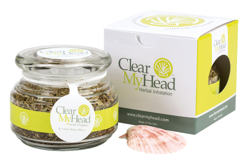 Clear My Head 9491853 Herbal Inhalation All Natural Nasal Decongestant Herbs & Oils