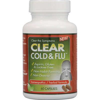 Clear Products 0961029 Clear Cold and Flu - 60 Capsules