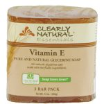 Clearly Natural 1170497 Bar Soap Vitamin E 3 Pk - .75 oz