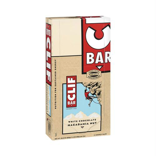 Clif Bar 653816 Clif Bar - Organic White Chocolate Macadamia Nut - Case of 12 - 2.4 oz