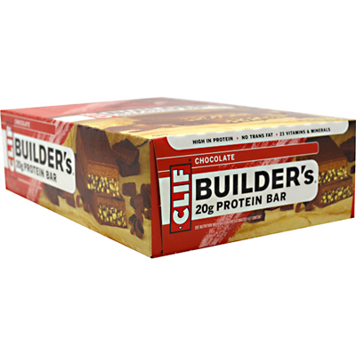 Clif Bar Builder Bar - Chocolate - 2.4 Oz - -Pack of 12